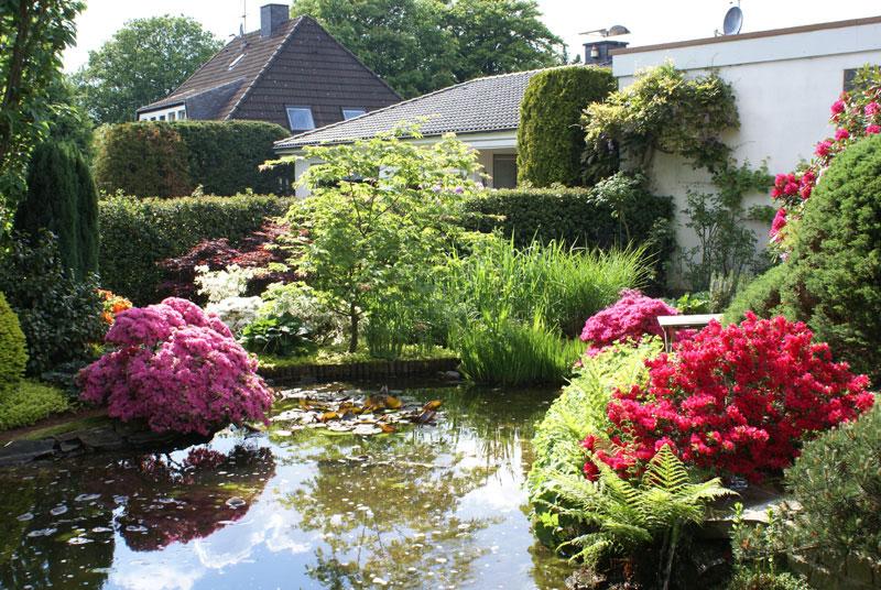 Teichgarten im japanischer Garten